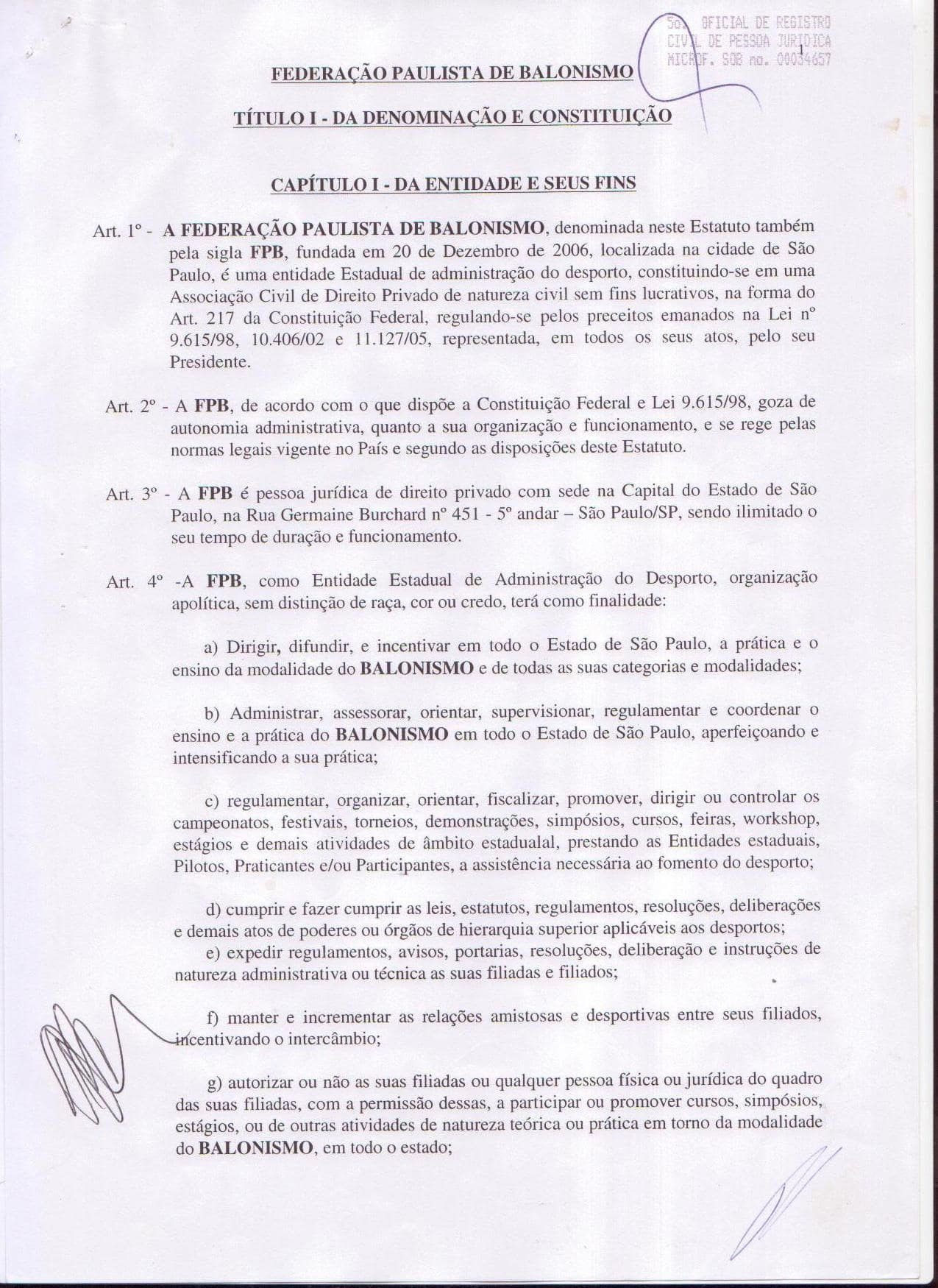 Estatuto da Federacao Paulista de Balonismo (01)